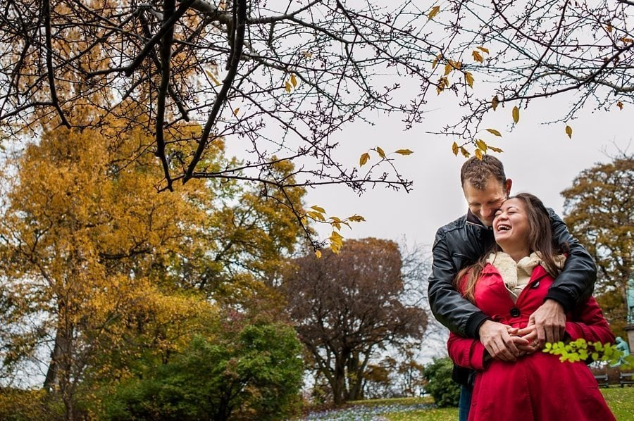 Autumn Copenhagen pre-wedding shoot