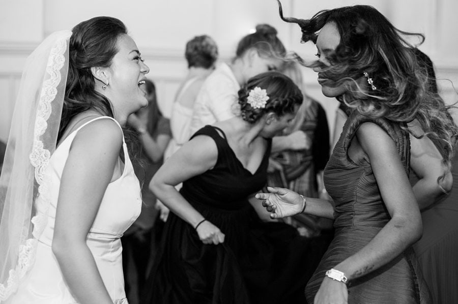 Wedding guests dancing captured by Copenhagen Wedding Photographer