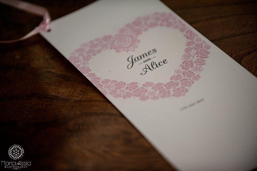 Wedding guest programme