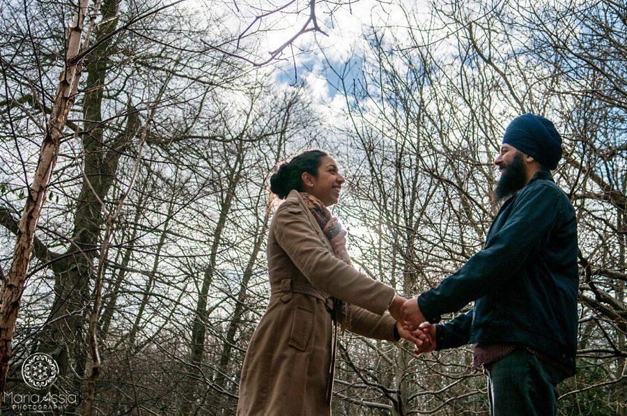 Harmunn & Harmeet - holding hands