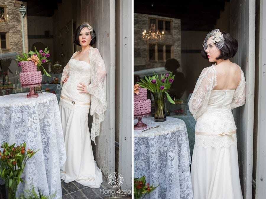 Downton Abbey wedding dress photographer