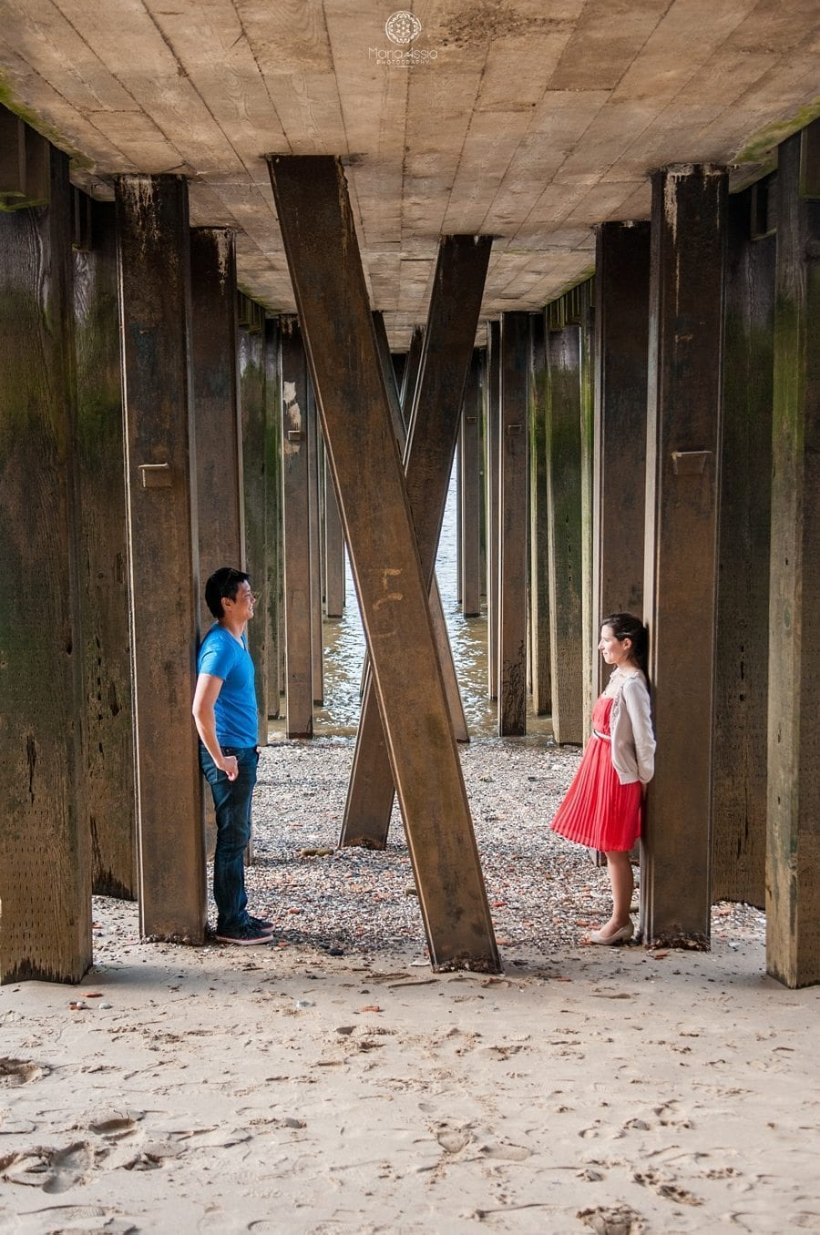 London pier Southbank engagement shoot by Maria Assia Photography