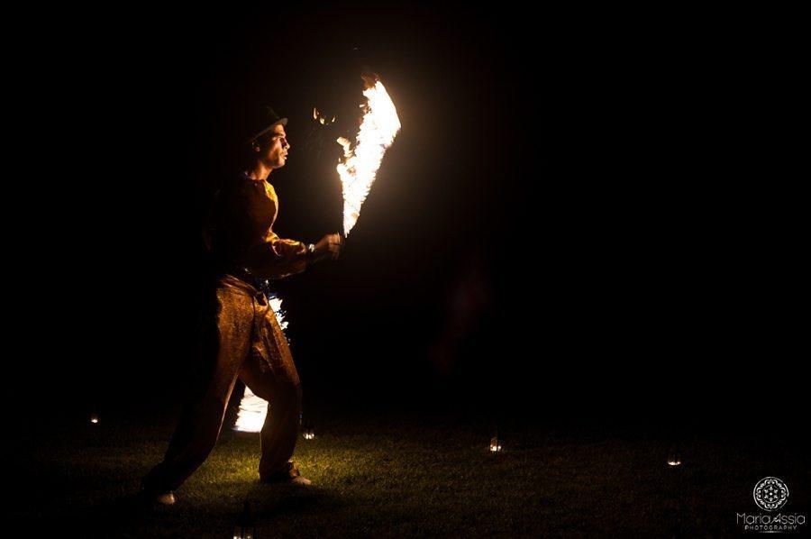 Morocco fire dancer show