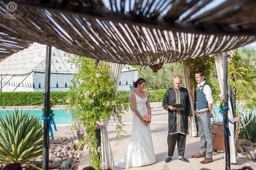 Marrakech wedding ceremony