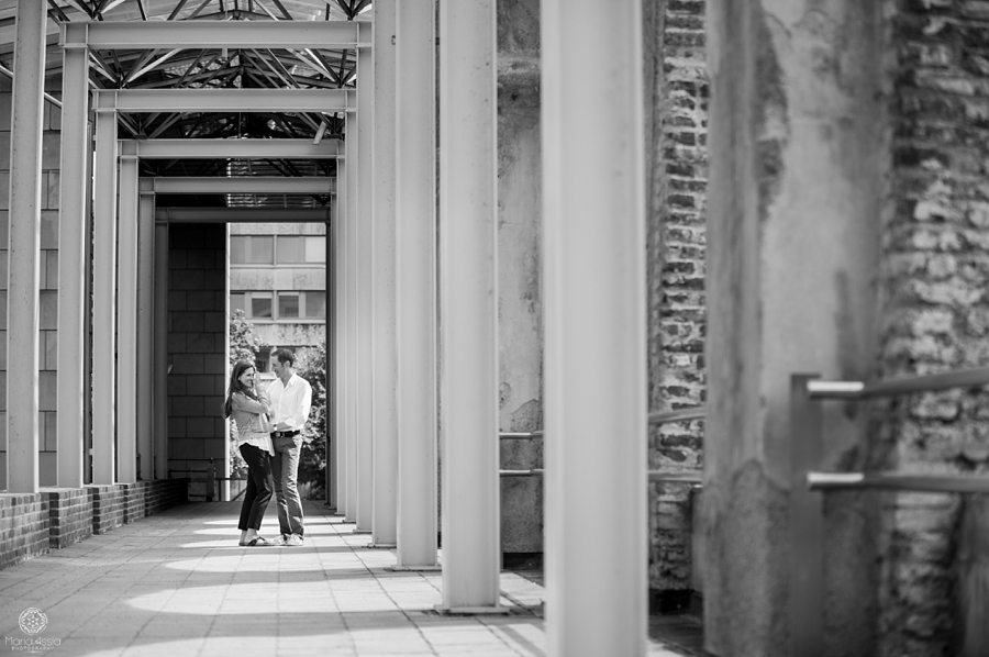 Destination engagement photographer with Munich couple