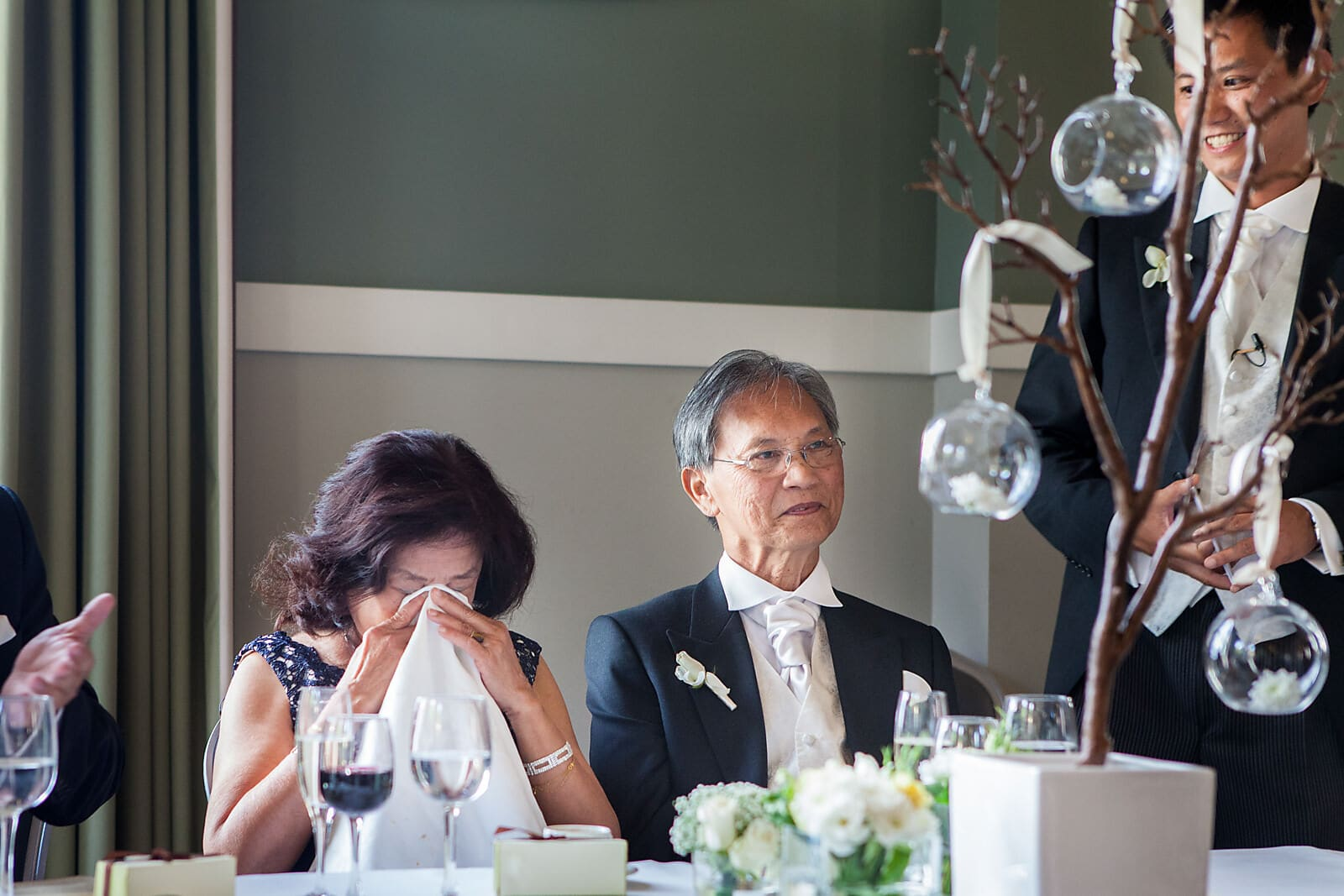 Grooms mum cries at his wedding speech
