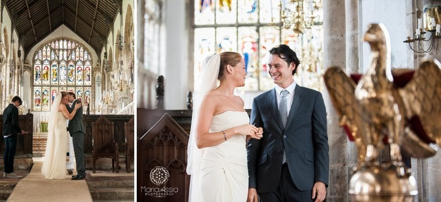 Wedding kiss, Norfolk wedding, St Peter's Church Walpole, Norfolk wedding
