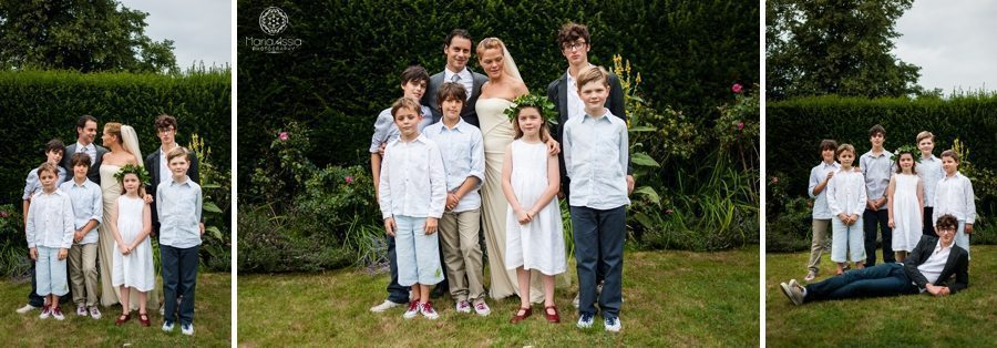 Norfolk bride and groom with their children