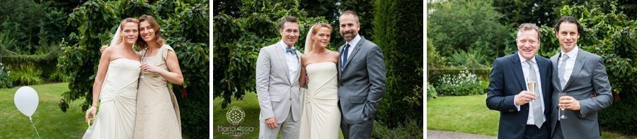 Bride and groom, maid of honour and best man