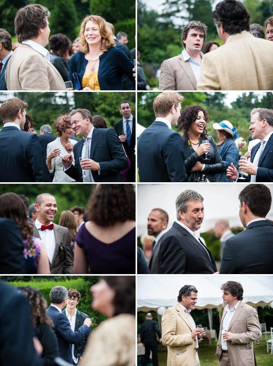 wedding guests enjoying the wedding reception