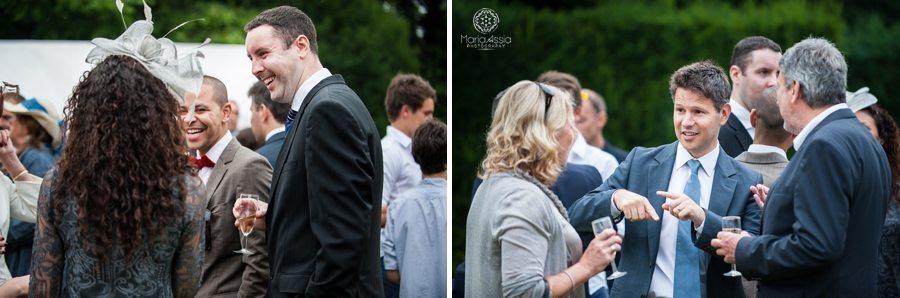 Wedding guests enjoying the Norfolk wedding reception