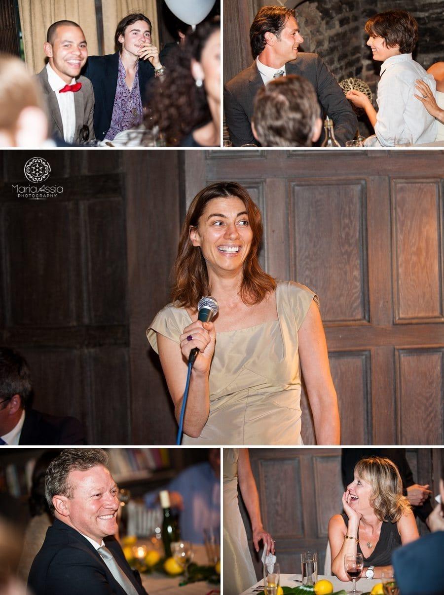 Wedding speech, wedding guest reactions