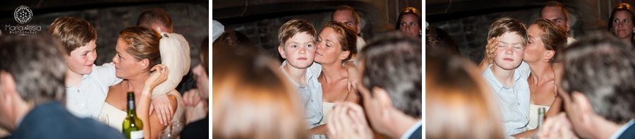 Norfolk bride and her son