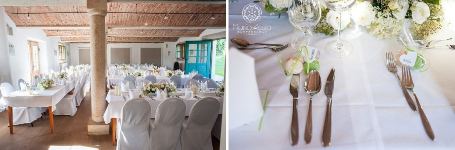 Bavarian destination wedding room and table setting