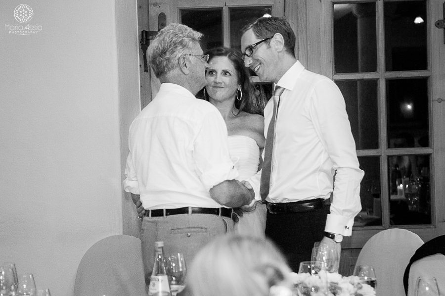 Father of the bride congratulating the married couple