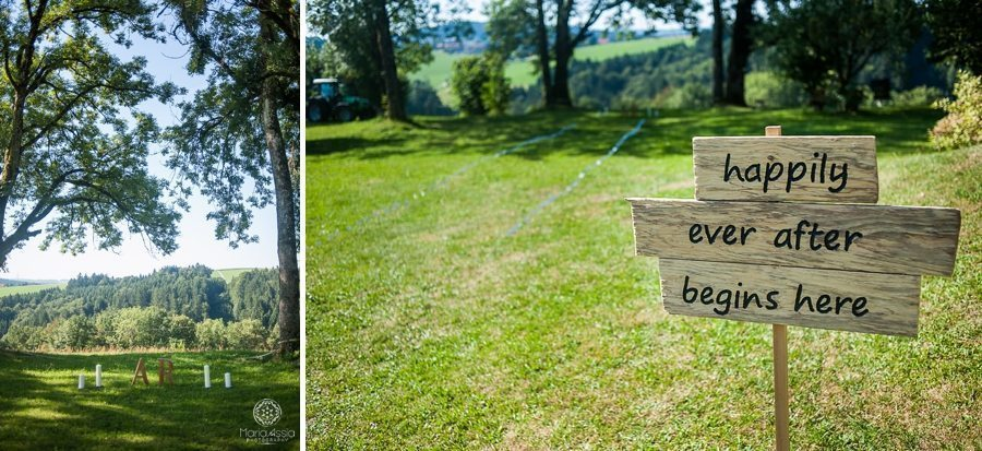 Whimsical wedding sign Happy ever after