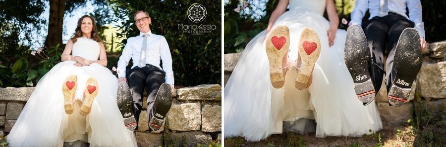 whimsical wedding shoes with stickers