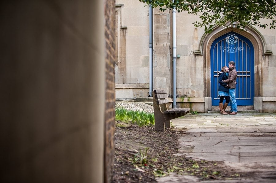 Windsor church engagement photo session