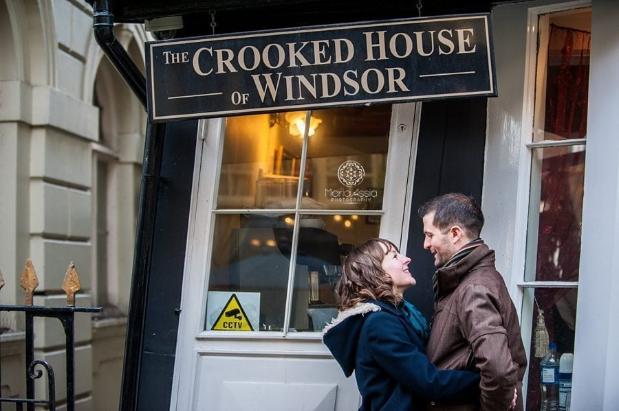 Windsor Crooked House engagement photo shoot