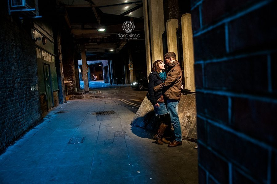 Engagement shoot in the Railway tunnels in Windsor