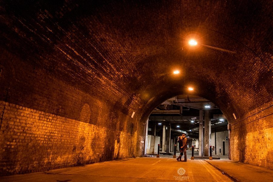 pre wedding photoshoot at Railway tunnel in Windsor