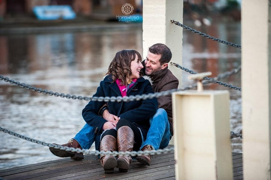 Engagement shoot on the Thames in Windsor