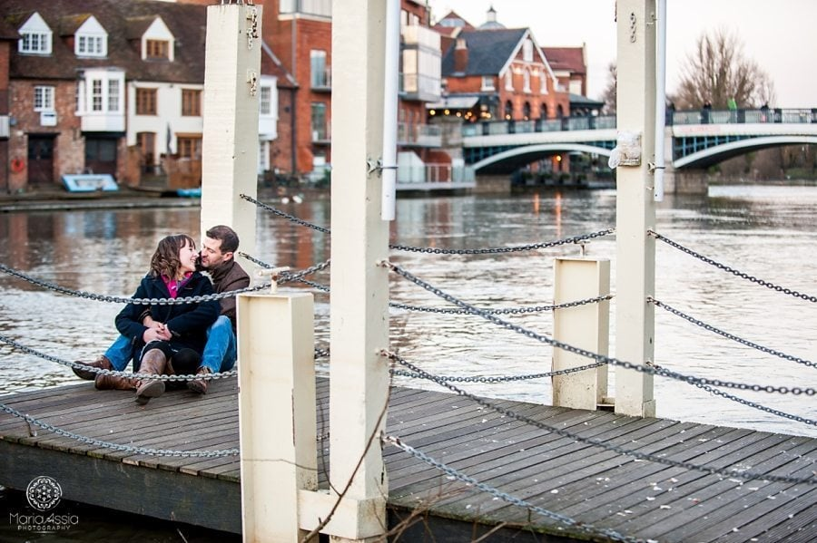 Windsor pre-wedding shoot on the Thames