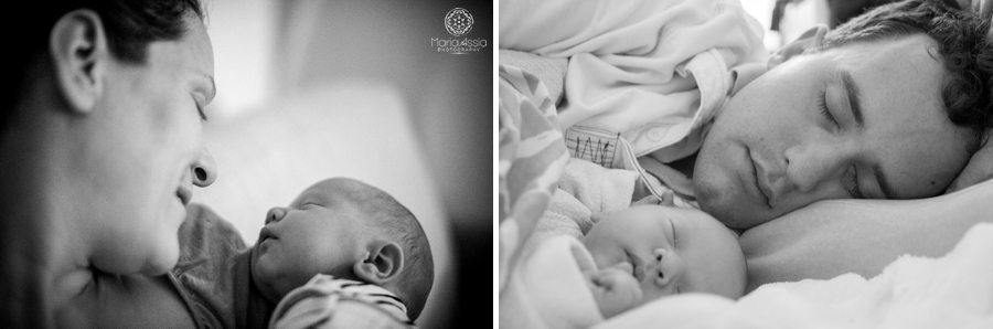 newborn moments with a baby's mum and dad