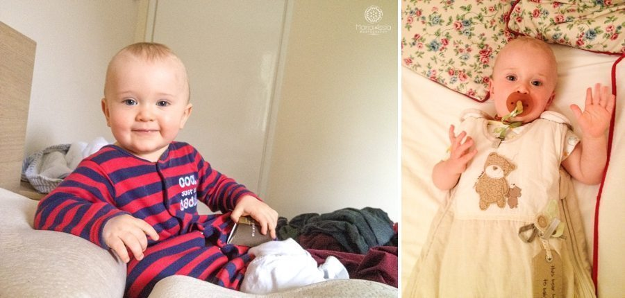 toddler in his pyjamas at bedtime