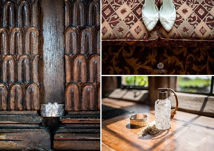 Billesley Manor Hotel wedding details by Maria Assia Photography
