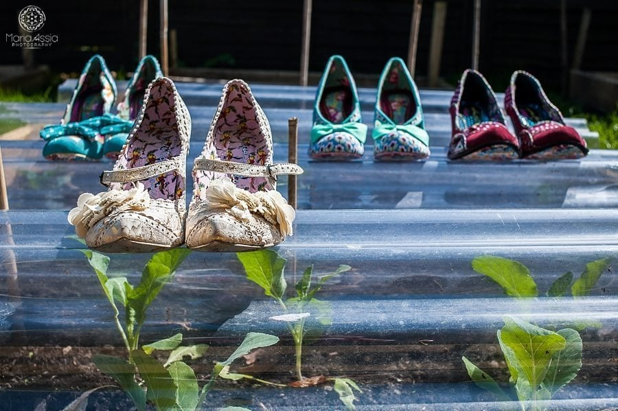 Irregular choice wedding shoes at a vintage windsor wedding