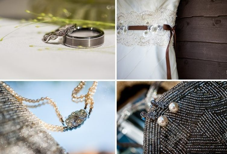50s Vintage chic jewellery, wedding dress and purse