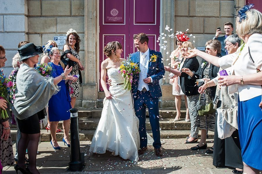 Bride and Groom Guildhall Windsor confetti - Maria Assia Photography