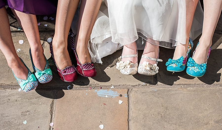Bride and bridesmaids irregular choice shoes