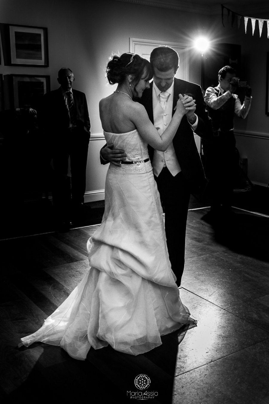 Wedding first dance, wedding photographer at a Vintage Windsor Wedding