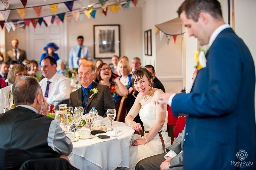 Groom's speech at the Sir Christopher Wren Hotel in Windsor