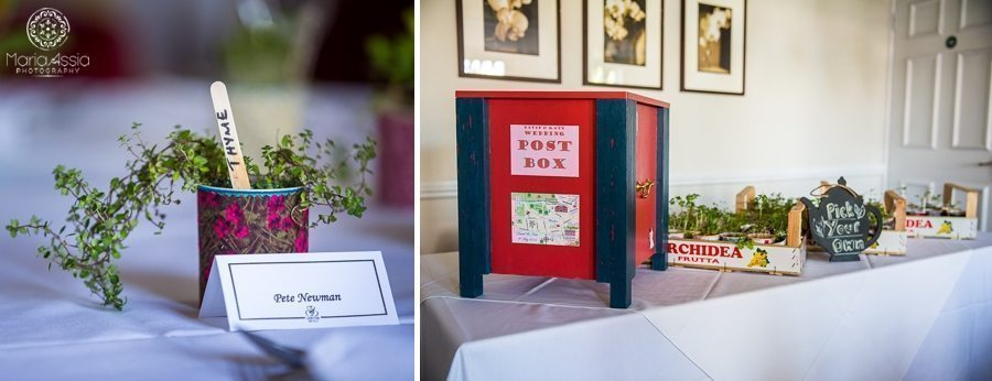 Homegrown wedding herb favours - Sir Christopher Wren Hotel Vintage Windsor Wedding