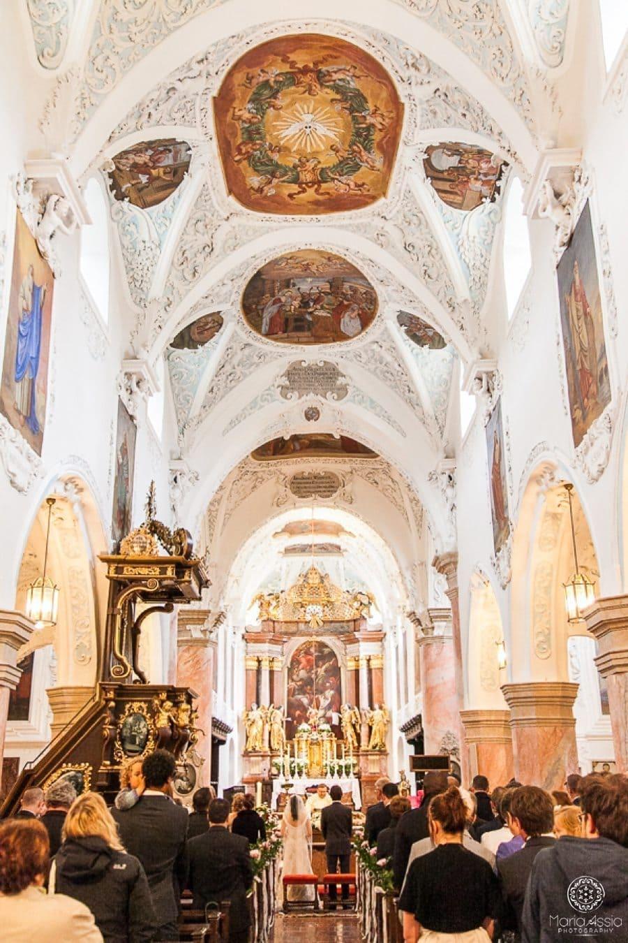 Mattsee Church, Stiftskirche Mattsee wedding ceremony