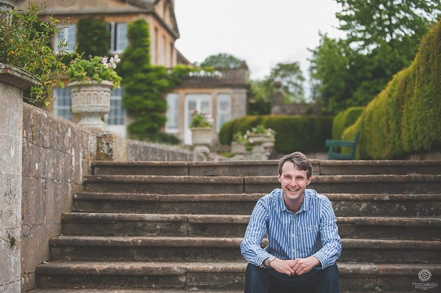 Engagement photo shoot at Bowood House