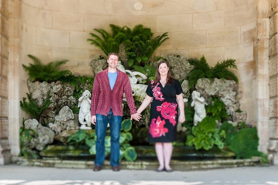 Couple holding hands at Waddesdon Aviary