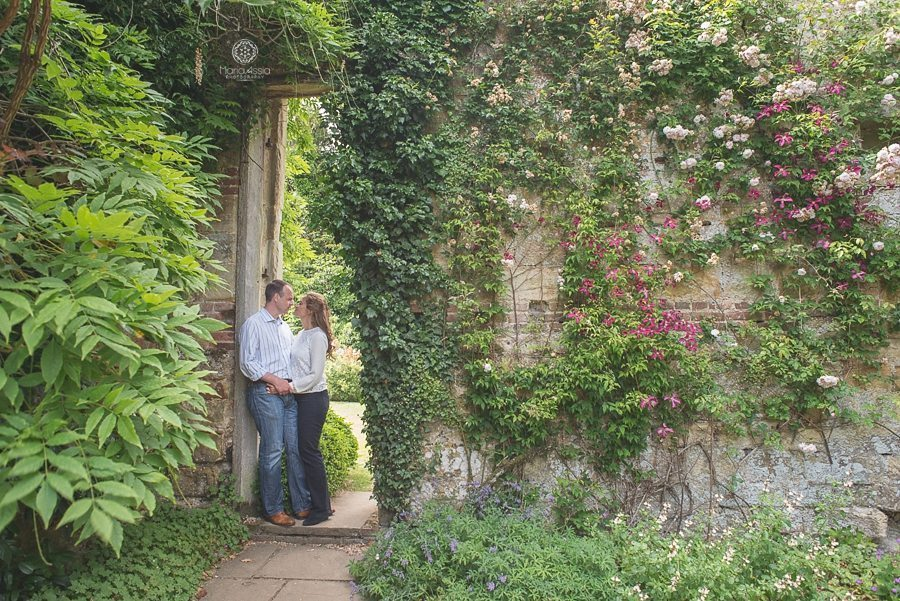 Couple standing in the doorway at Scotney Castle