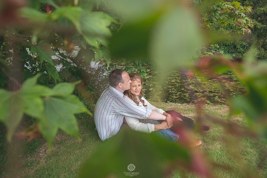 Engaged couple at their Scotney Castle pre-wedding photo shoot