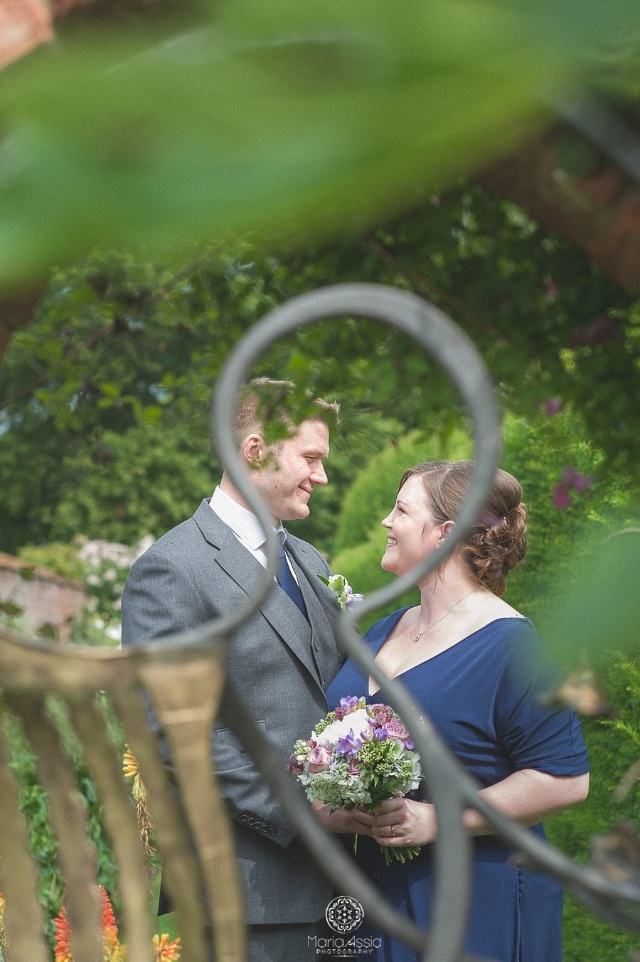 Birtsmorton Court Navy Blue Wedding - Maria Assia Photography