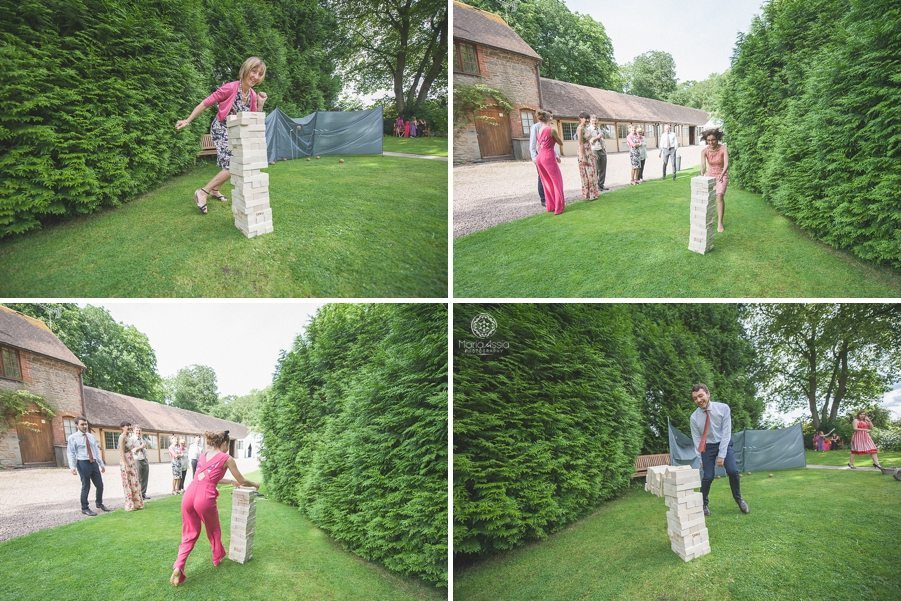 Lawn games at Birtsmorton Court wedding