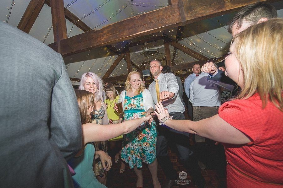 Dancing at a Birtsmorton Court Navy Blue Wedding - Maria Assia Photography