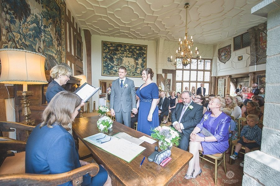 Wedding ceremony in the Great Hall at Birtsmorton Court