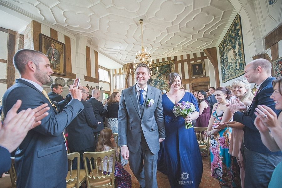 Great Hall Birtsmorton Court Navy Blue Wedding - Maria Assia Photography
