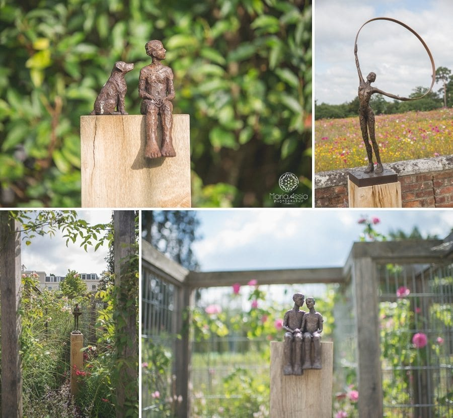 Statues and art at Coworth Park grounds