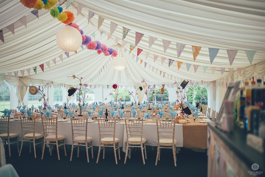 Alice in wonderland wedding theme Dressed Wedding marquee decorations