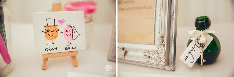 Wedding details in Alice in Wonderland wedding theme